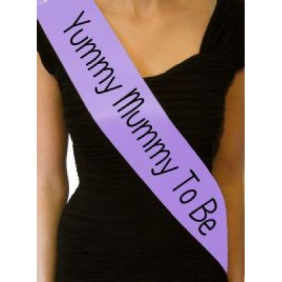 'Yummy Mummy To be' Sash (Lilac)